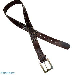 Levi's Brown Leather Belt w/ Grommets. Large